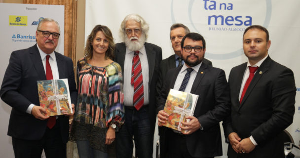 Pedro Westphalen, Sidnei Alves dos Anjos e Marcelo Gazen (vices-presidentes da Federasul), Fábio Freitas e Vicente Brito Pereira