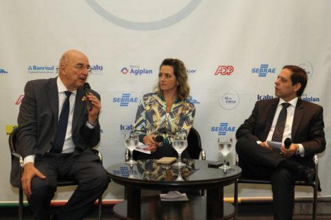 Da esquerda para direita: Osmar Terra, Simone Leite e  Milton Terra Machado.