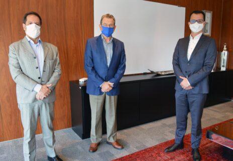 da esquerda para a direita: Milton Terra Machado, Luiz Carlos Bohn e Anderson Trautman Cardoso
